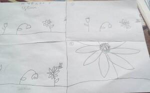 7. Пчёлка и цветы.
